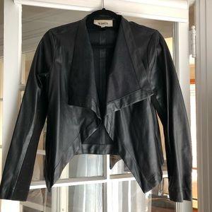 BB Dakota Peppin Vegan Drape Leather Jacket